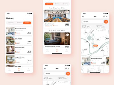 Travela - A Travel and Hotel booking App (Part-4) trip travela booking app travel app ui sign up forgot login splash booking hotel travel