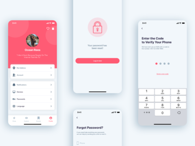 (Part 4) The Girls Shop - Shopping App UI KIT passcode forgot setting shop app walkthrough screen onboarding screen login the girls shop shop shopping shopping app