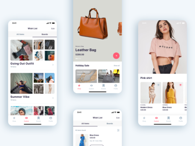 (Part 5) The Girls Shop - Shopping App UI KIT shirt explore home shop app walkthrough screen onboarding screen login the girls shop shop shopping shopping app
