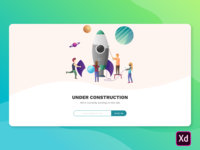 A Simple Under Construction Page by Adobe XD