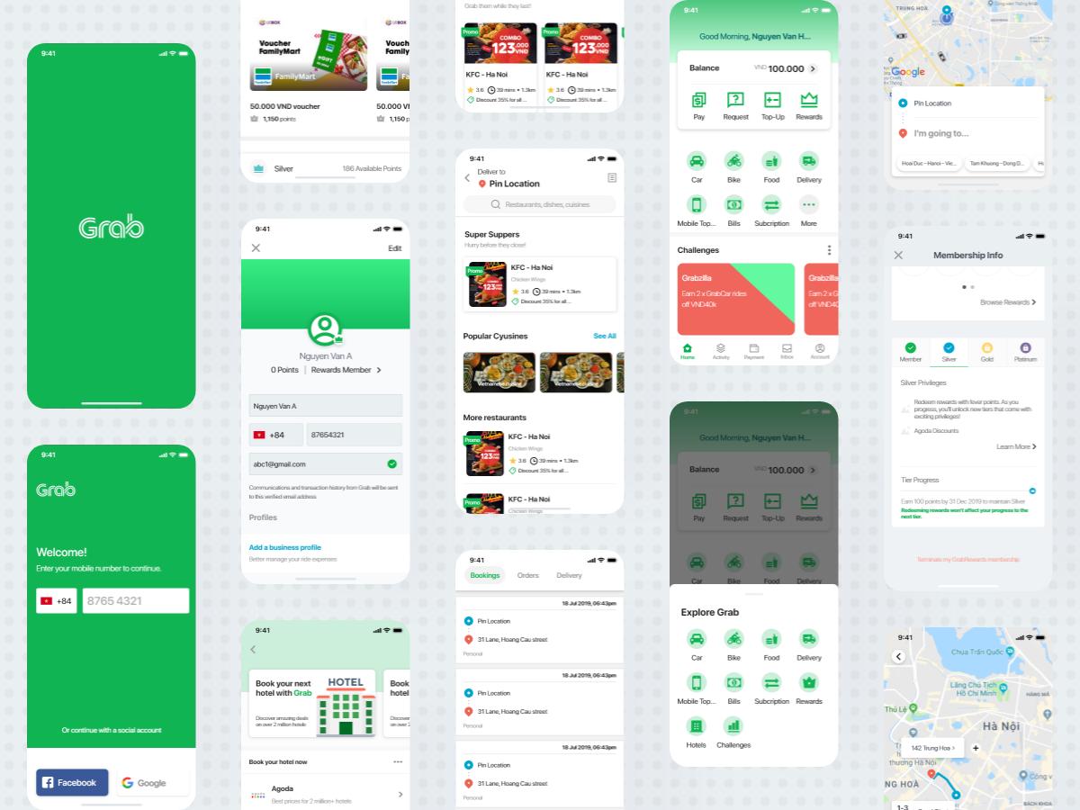 Grab App 2019 by Adobe XD by GumBum on Dribbble
