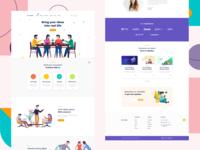 Creabox - Saas Website Design by Adobe Xd