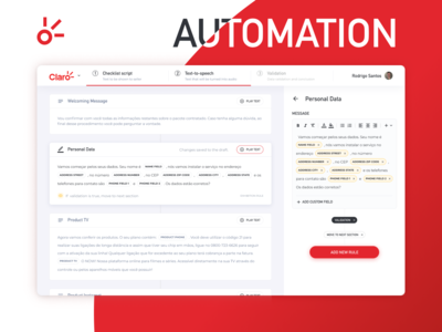 Sales checklist automation