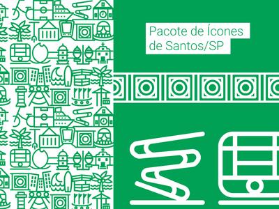 Icones de Santos/SP beach icones icons cityicons santos