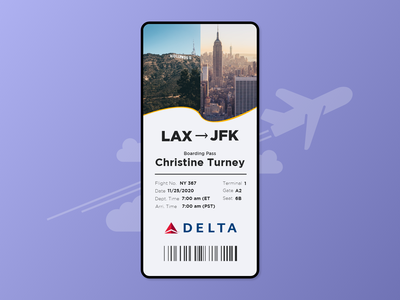 #DailyUI - Day 24 - Boarding Pass boarding pass app dailyui ux ui