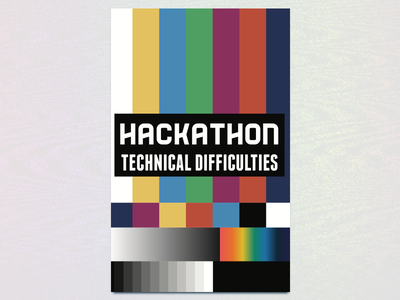 Nationwide Hackathon 2016 Team Sign: Technical Difficulties adobe illustrator technical difficulties nationwide team sign branding print hackathon columbus