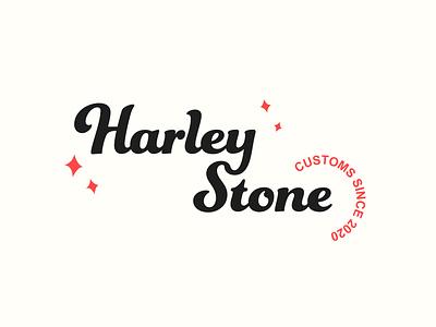 Logo: Harley Stone Customs logo etsy graphic design logo design minimal minimalism type typesetting typography illustrator etsy shop minimal design graphics