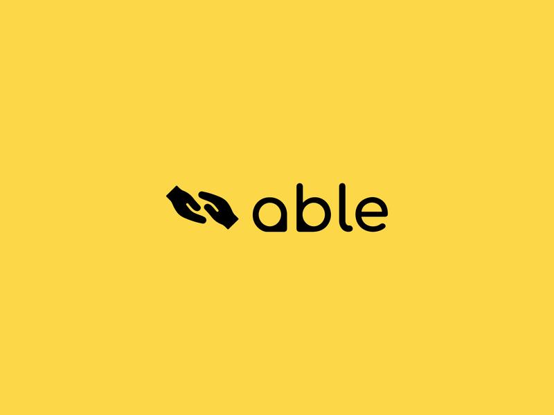 Able Logo identity mark icon typography vector illustration design logo branding