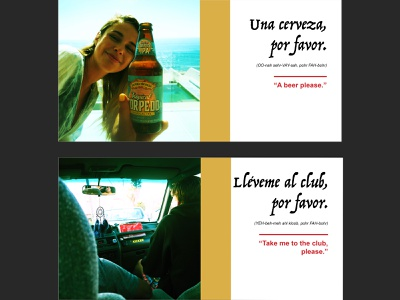 Mexico Travel Glossary (sample pages) photography book indesign illustrator design