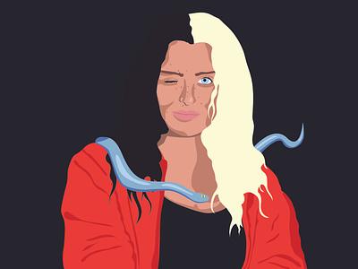 Sis with Snake vector design art illustration illustrator