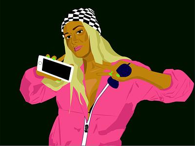 Self Portrait vector illustration design illustrator