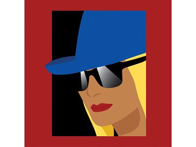 Blue Hat Lady art vector illustration illustrator design