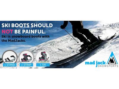 Banner Ad for MadJacks Snowsports logo branding photoshop illustrator design