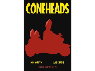 Coneheads Movie Poster Concept design illustrator poster movie poster movie coneheads