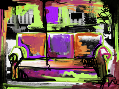 Abstract Couch couch digitalart digitalpaint digital bright colorful art applepencil paint painting ipad design