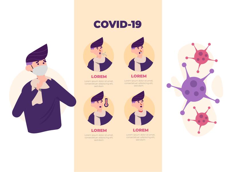 Corona corona phone flu medical smartphone outbreak pandemic epidemic covid-19 quarantine coronavirus health virus business illustration ux ui flat vector app