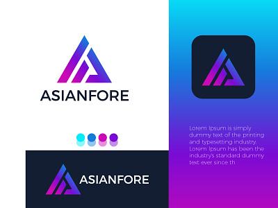 A letter modern logo ! logo design