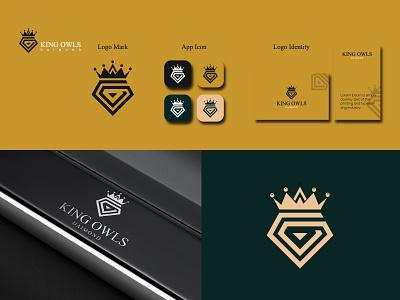 king owls Logo ! iconic jack male man badge mark potait men daimond illustration icon identity gradeint modern branding logo design graphic design luxury crown logo king