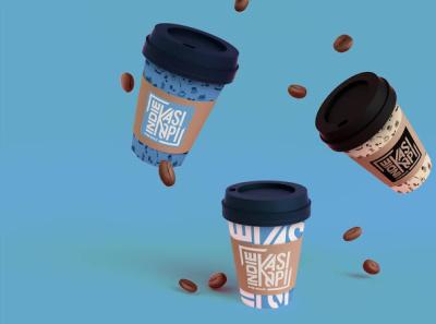 Indiekasi Kopi Logo Design Mock Up branding logo design coffee shop coffee cup coffee