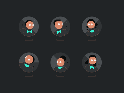 CRED avatars face head ui illustration ui copper concept branding vector avatar profile night mode dark ui abstract digitalart illustration illustrator creditcard credit