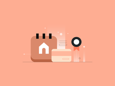 CRED Rentpay pay rent home lifestyle rewards app rewards uiillustration branding design icon walkthrough line ui vector illustration