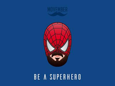 No Shave Spider-Man movember no shave november superhero batman beard noshavenovember