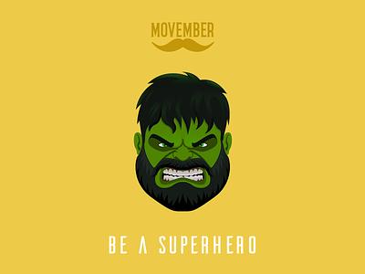 No Shave Hulk the avengers movember no shave november superhero hulk beard noshavenovember