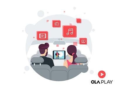 Ola Play Walkthrough Screen olaplay play music illustration walkthrough olacabs ocd