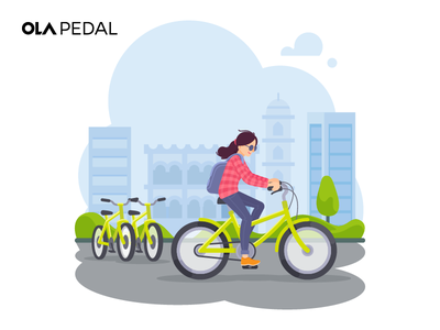 Ola Pedal Walkthrough Screen bicycle ola cabs rentals outstation city bike bangalore cycle people walkthrough