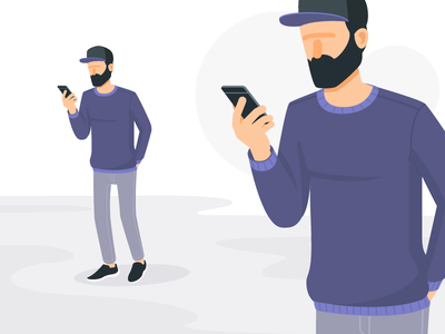 Character Design mobile app app use mobile snapback character