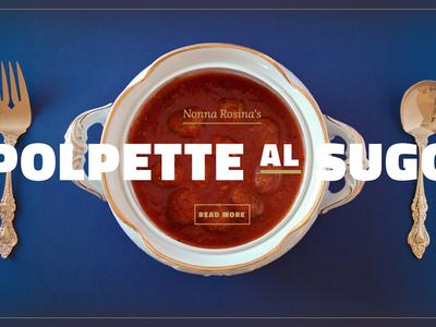 Nonna's Recipes: Polpette al Sugo food photography web website