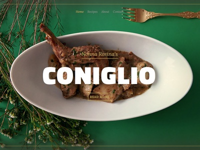 Nonna's Recipes: Coniglio food photography web website