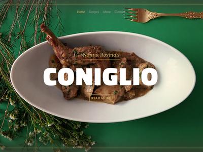 Nonna's Recipes: Coniglio food photography web website