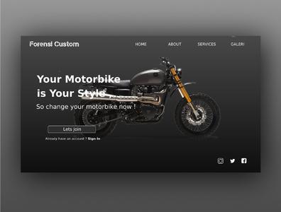 Web Design Forensi Custom design layout website concept uiuxdesigner uiuxdesign uiux app design ui website design web design webdesign ui design uidesign
