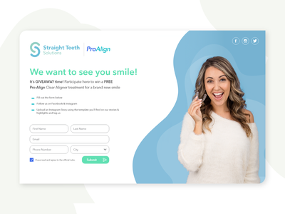 ProAlign   Splash minimal web layout landing page interface design
