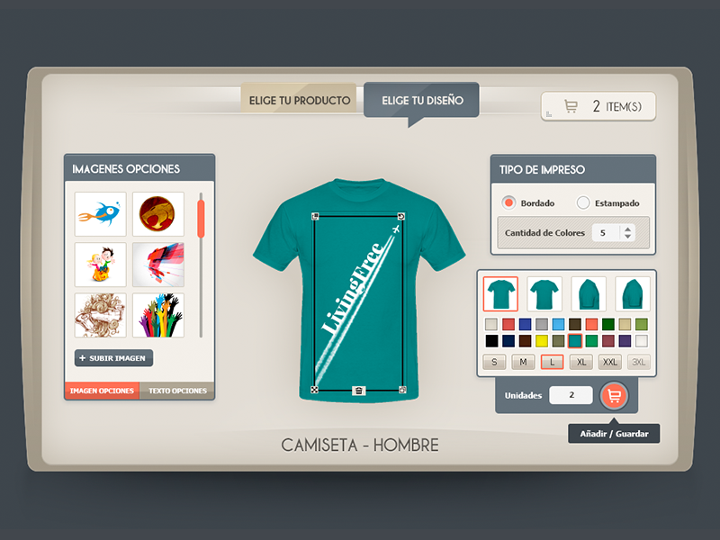 T-Shirt App desing t-shirt app store ui flat layout interface web minimal