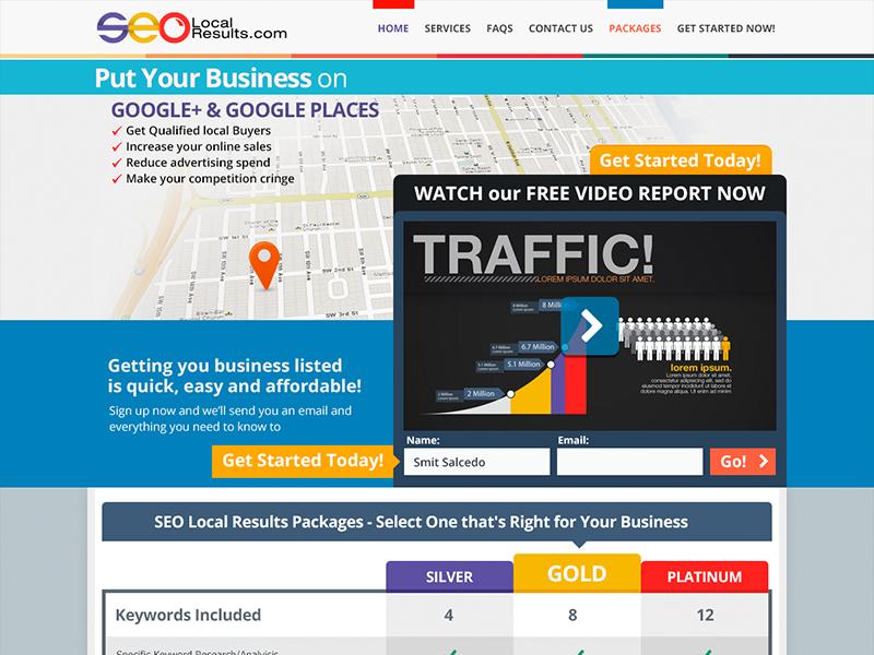 SEO Local minimal layout site web interface design flat design