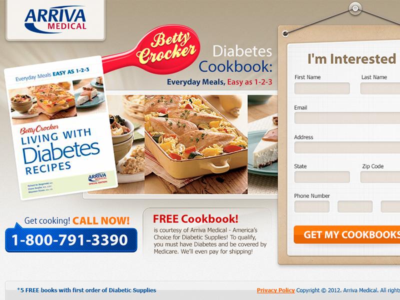 Arriva Medical - Betty Crocker minimal layout web interface design landing