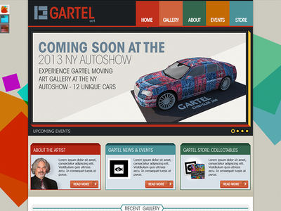 Laurence Gartel flat design design interface web site layout minimal