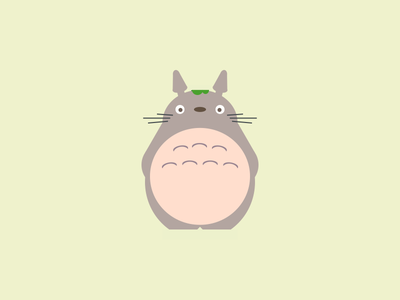 Pure CSS - Totoro web minimal layout flat totoro illustraion animation css html vector pure css