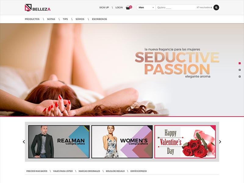 Qbelleza flat design design interface web site layout minimal