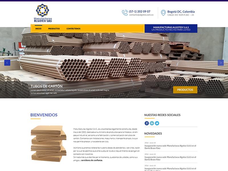 Algotex flat design design interface web site layout minimal