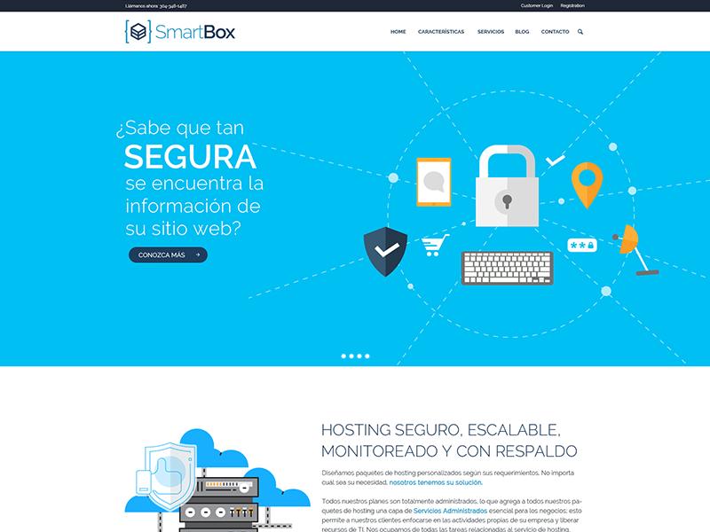 Smartbox minimal layout site web interface design flat design