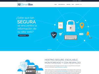 Smartbox minimal layout site web interface design flat design