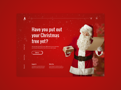 Concept UI for an online Christmas tree store website website design ui  ux christmas website christmas tree santa claus red design red christmas web design ui design design ui