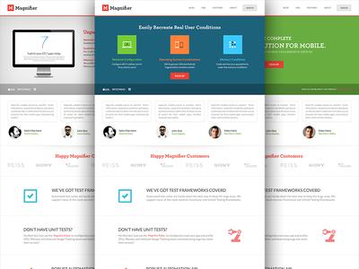 Corporate Website Design homepage ui ux icons blue green website design slider testimonials presentation interface