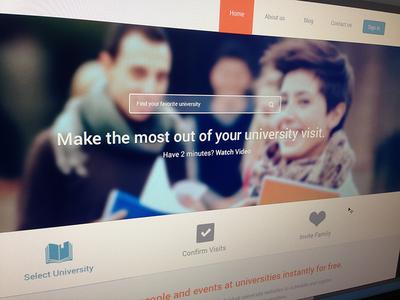 VisitDays Homepage - WIP  website design wip education university menu navigation search transparent icons slider