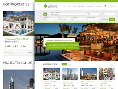 Rootsland Properties Dubai - Homepage concept realestate estate homepage property portal design ui ux properites website dubai