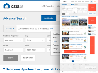 Property - Search Results property search results listings form filter featured creative website design ui ux