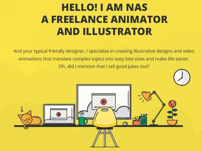Portfolio Website - Nasibah.co website design clean flat portfolio illustration animated gif website development creative ui ux dubai